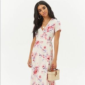 Forever 21 Maxi Floral Wrap Dress - S